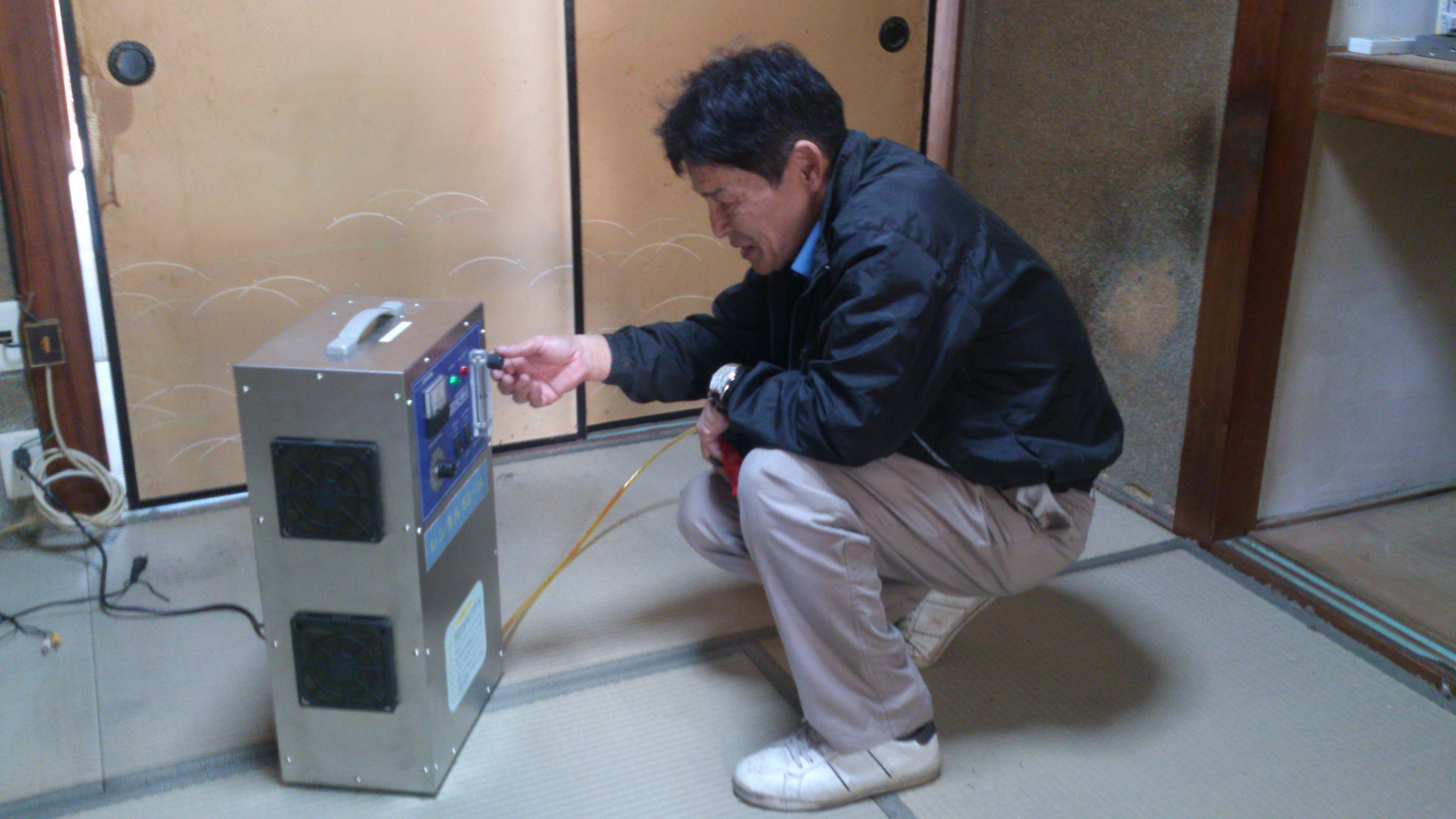 川村様オゾン発生器設置
